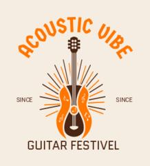 acoustic-guitar - music logo design - icreativesol