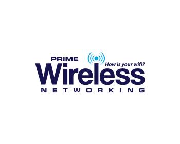 prime wireless - technology logo design - icreativesol