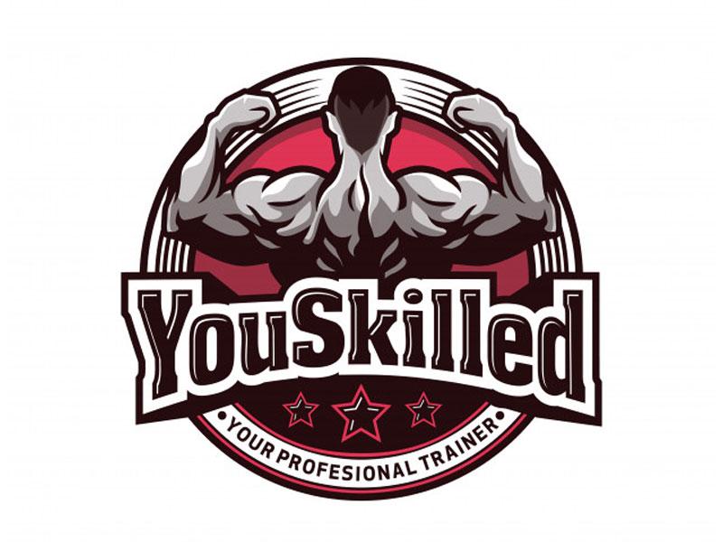skilled - fitness logo design - icreativesol