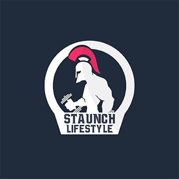 staucnh - fitness logo design - icreativesol